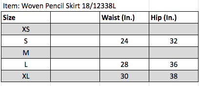 Woven Pencil Skirt 18/12338L