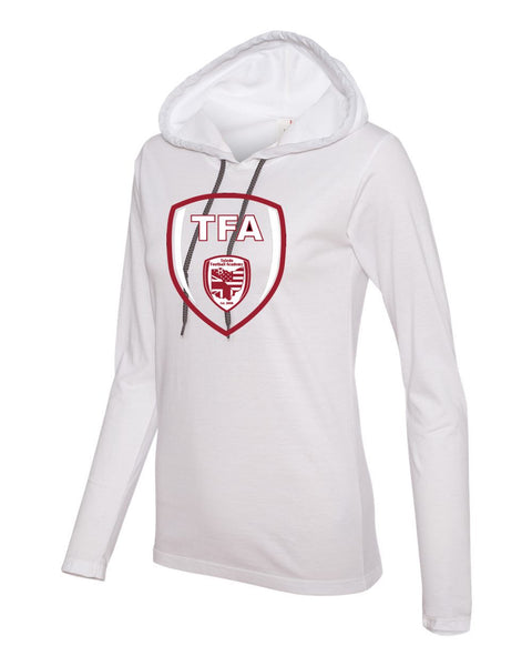 Women's Lightweight Long Sleeve Hooded T-Shirt - 887L