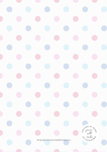 5 X A4 PRINTABLES - LETTERS BY HAND IN LOCKDOWN - POLKA