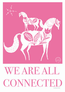 We are all connected - open edition giclee print