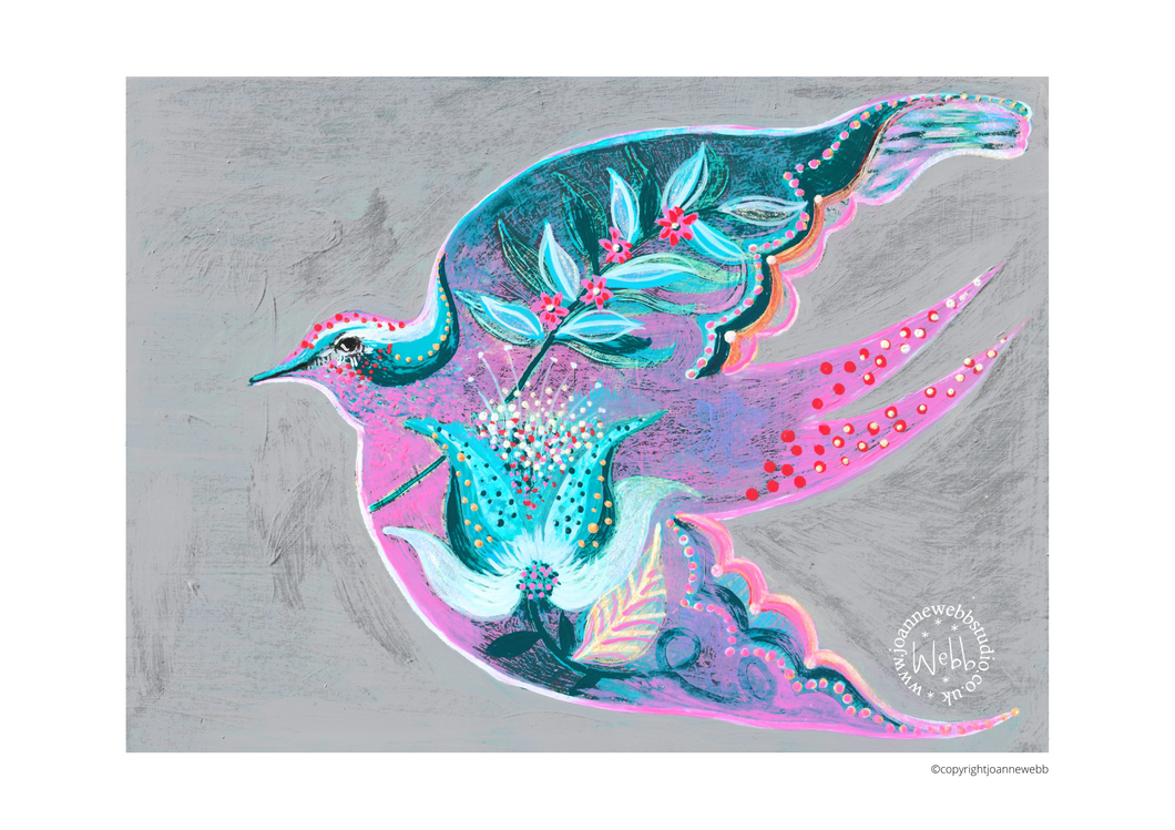 Bird of freedom - Open edition giclee print - NO QUOTE