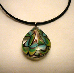 Pendant Glass Teardrop Necklace