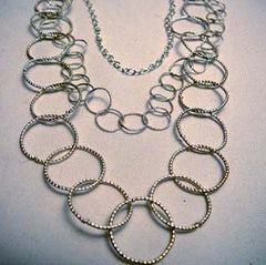 Sterling Silver Triple Strand Necklace