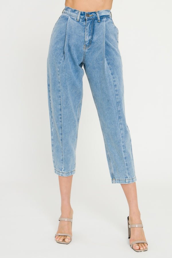 Pleated Mom Jeans
