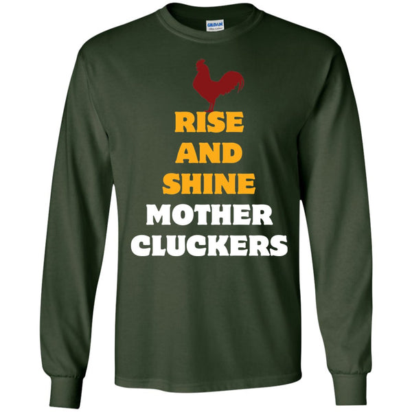 Funny Chicken Shirt Mother Clucker  LS Ultra Cotton Tshirt