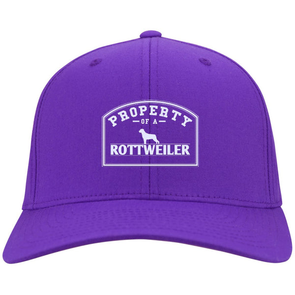 Rottweiler - Property Of A Rottweiler - Dry Zone Nylon Cap (Embroidered)