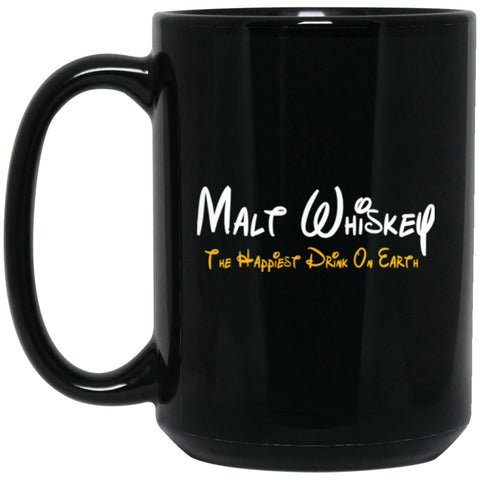 Funny Whiskey Gift For Whiskey Lover - Malt Whiskey Large Black Mug