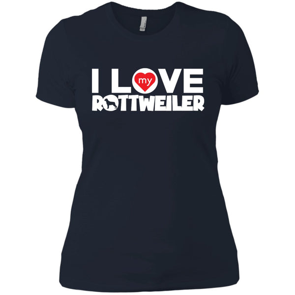 I Love My Rottweiler - Next Level Ladies' Boyfriend Tee