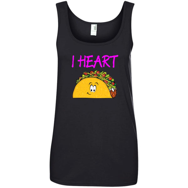 I Love Tacos Shirt Women Ladies Tank Top
