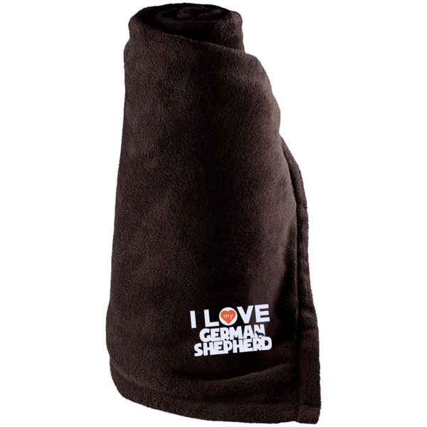 I Love My German Shepherd - Large Fleece Blanket