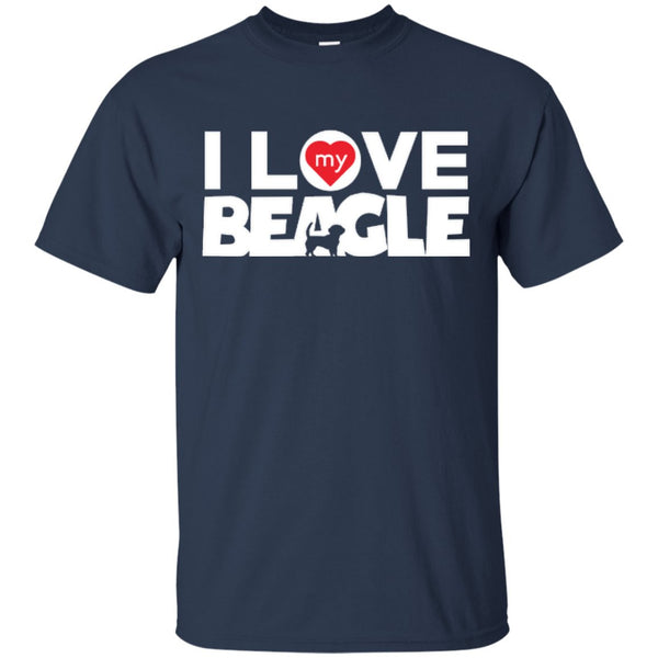 I Love My Beagle -  Custom Ultra Cotton T-Shirt