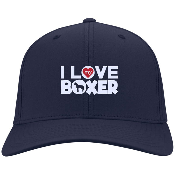I Love My Boxer  - Dry Zone Nylon Cap (Embroidered)