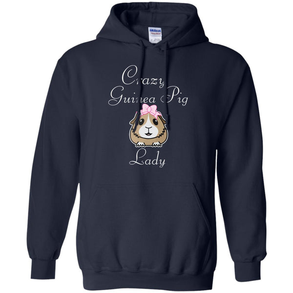 Crazy Guinea Pig Lady  Pullover Hoodie 8 oz