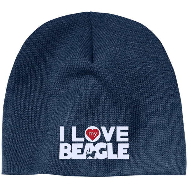 I Love My Beagle - Beanie (Embroidered)