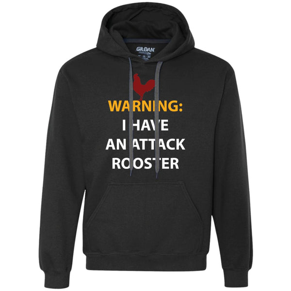 Chicken Gag Gift Funny Attack Rooster Shirt  Heavyweight Pullover Fleece Sweatshirt