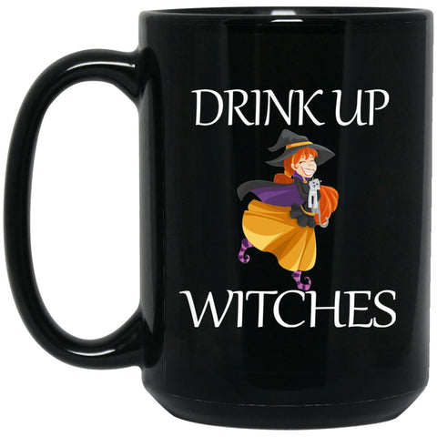 Funny Witch Drink Up Witches Witch Large Black Mug