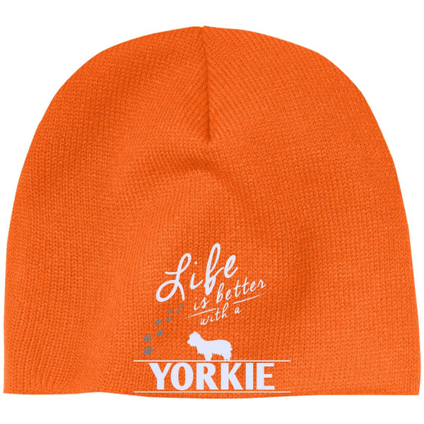 Yorkshire - Life Is Better With A Yorkshire - Beanie (Embroidered)