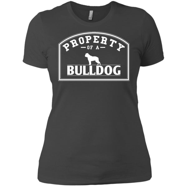 Bulldog - Property Of A Bulldog - Next Level Ladies' Boyfriend Tee