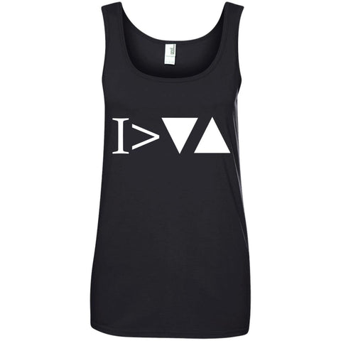 Cool Motivational Shirt I'm Greater Than My Ups and Downs Ladies Tank Top
