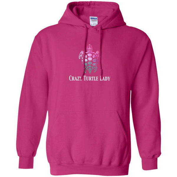 Crazy Turtle Lady Watercolor Hoodie