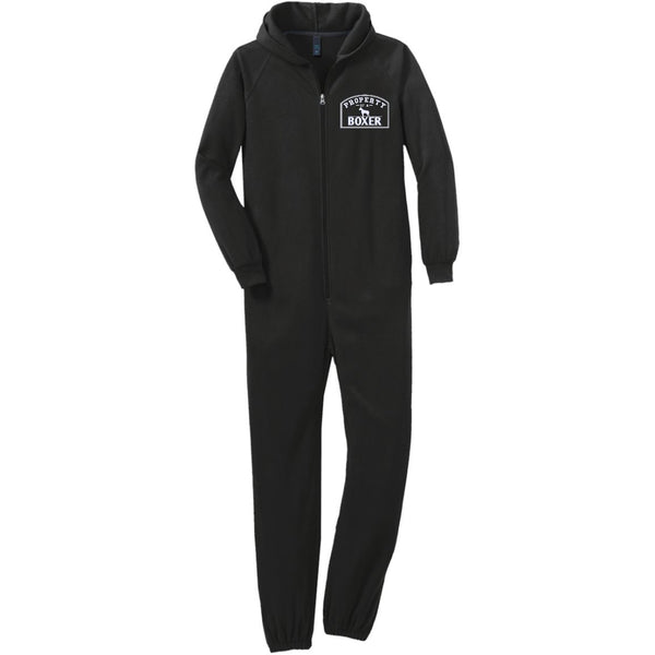 Boxer - Property Of A Boxer - Adult Fleece Onesie (Embroidered)