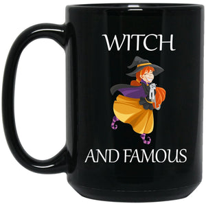 Funny Witch - Witch and Famous Large Black Mug