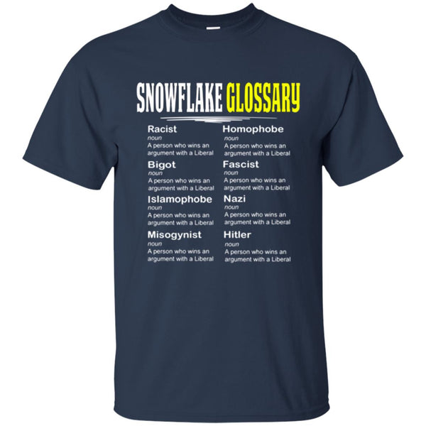 Funny Conservative Shirt - Snowflake Glossary T-Shirt