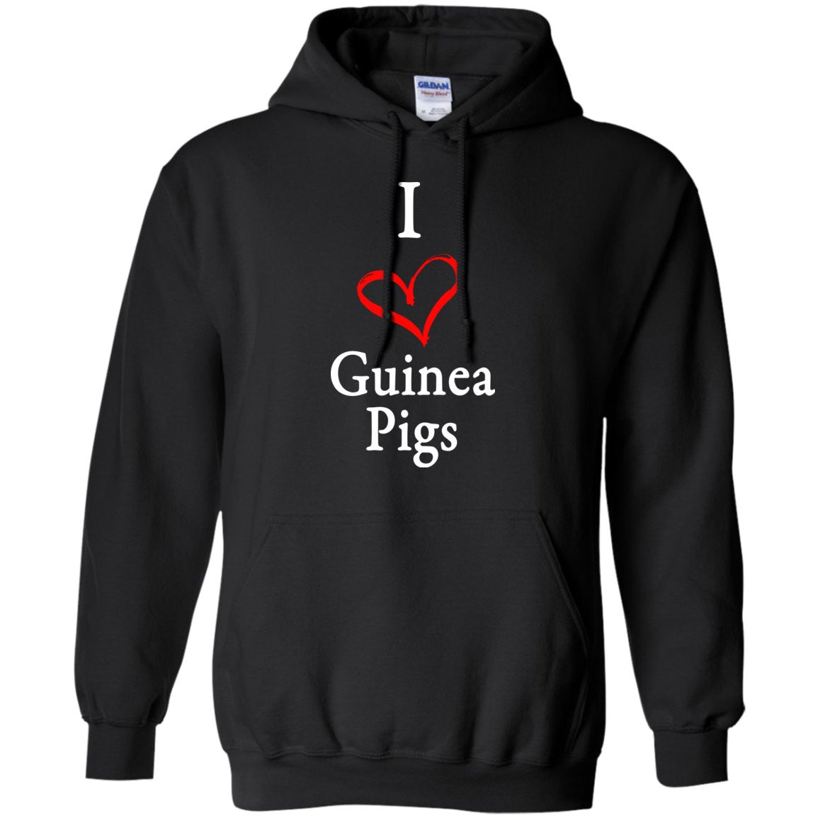 I Heart Guinea Pigs  Pullover Hoodie 8 oz