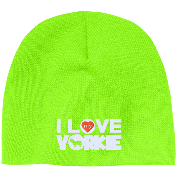I Love My Yorkshire Terrier - Beanie (Embroidered)