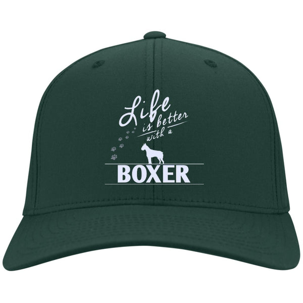 Boxer - Life Is Better With A Boxer Paws - Dry Zone Nylon Cap (Embroidered)