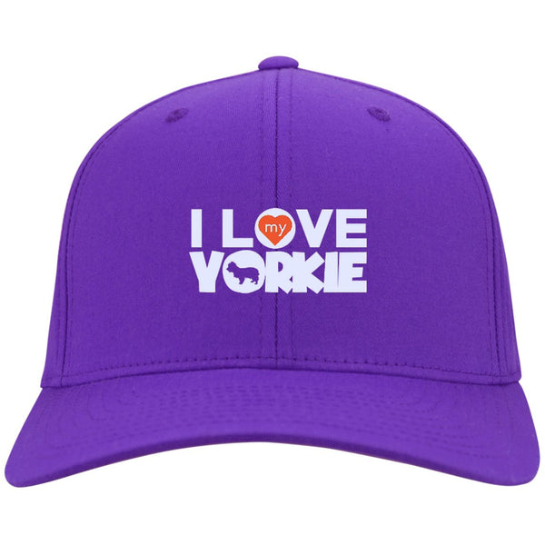 I Love My Yorkshire Terrier - Dry Zone Nylon Cap (Embroidered)