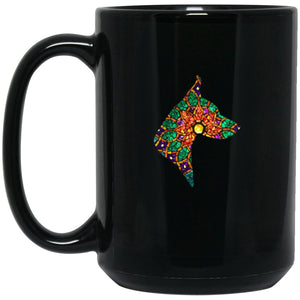 Doberman Stained Large Black Mug