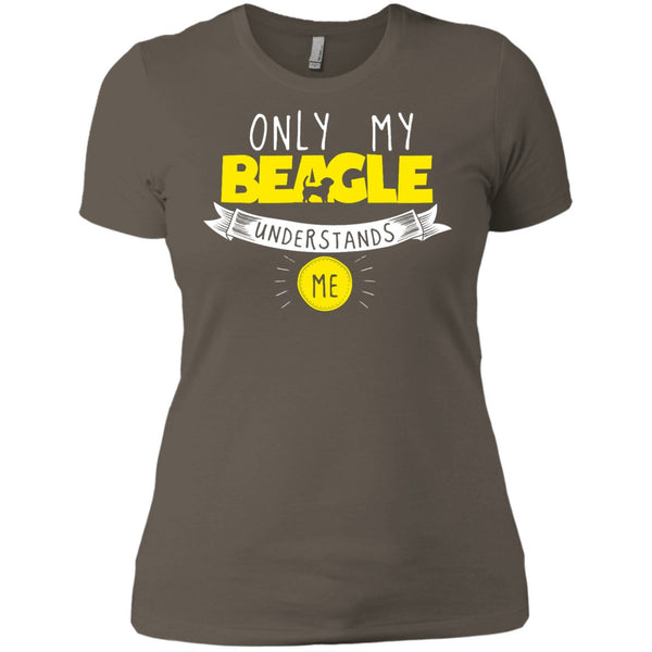 Beagle - Only My Beagle Understands Me Yellow - Next Level Ladies' Boyfriend Tee