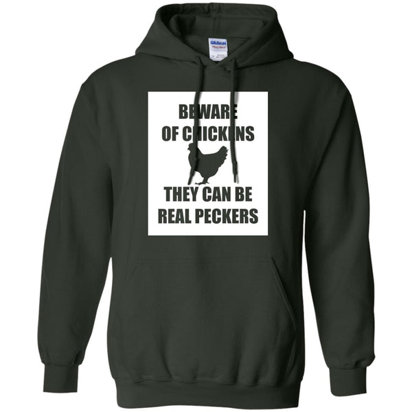 Funny Chicken Gifts - Beware Of Chicken Shirt  Pullover Hoodie 8 oz