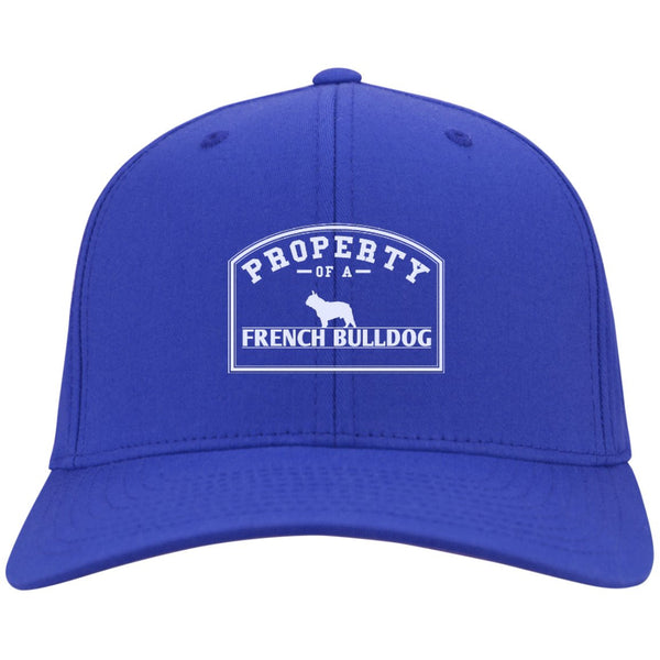 French Bulldog - Property Of A French Bulldog - Dry Zone Nylon Cap (Embroidered)