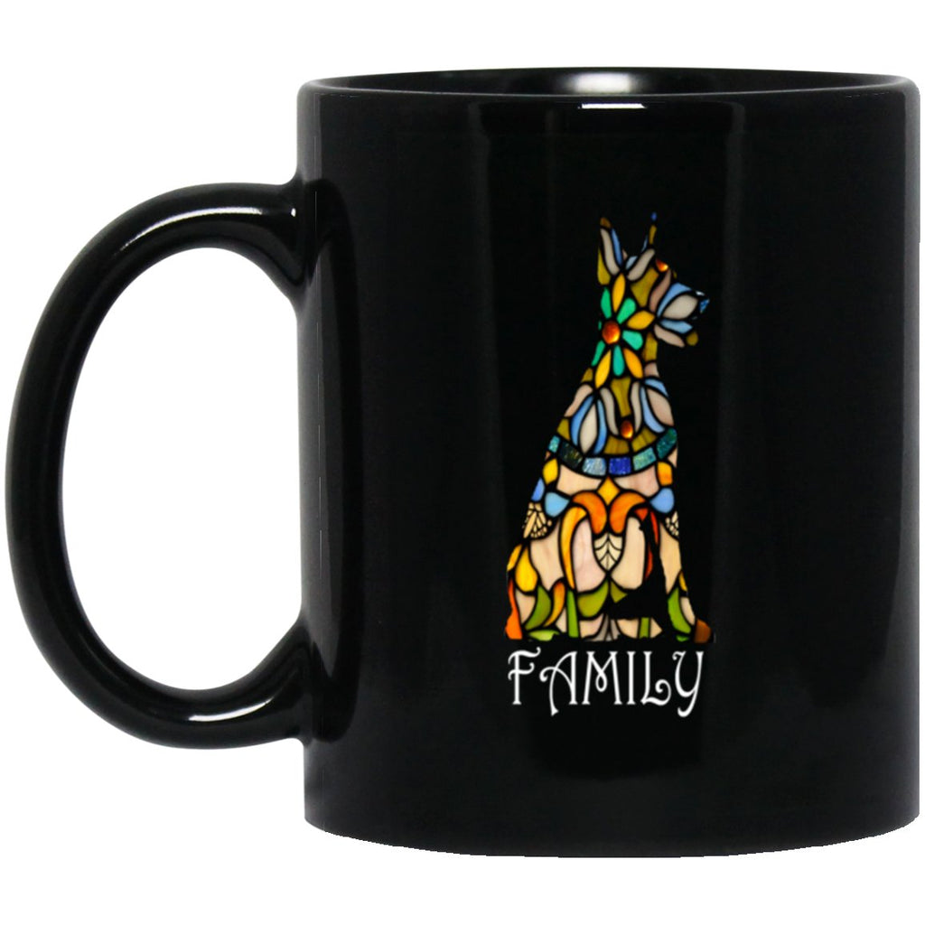 Cool Doberman Pinscher Gifts - Family 11 oz. Black Mug