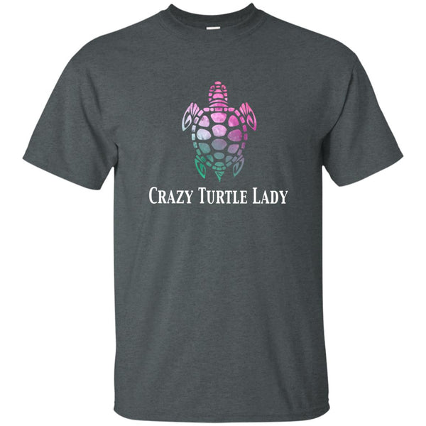 Crazy Turtle Lady Watercolor T-Shirt