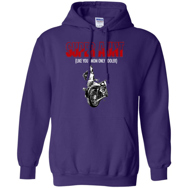 Gift For Cool Aunt Rides Motorcycles Hoodie
