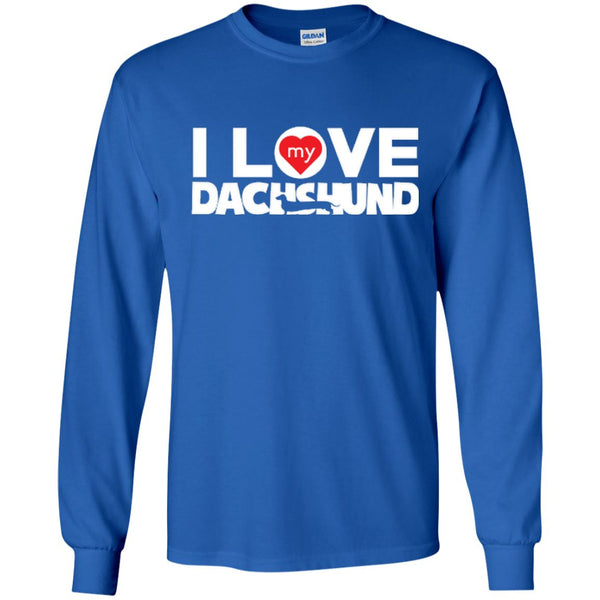 I Love My Dachshund - LS Ultra Cotton Tshirt