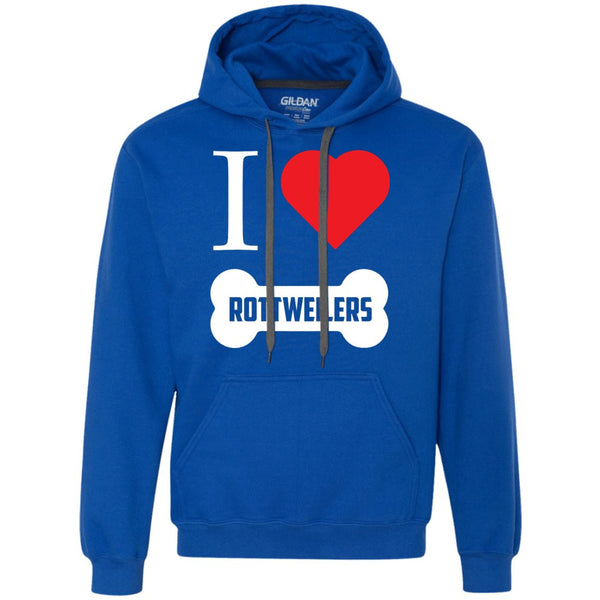 I Love My Rottweiler - Heavyweight Pullover Fleece Sweatshirt