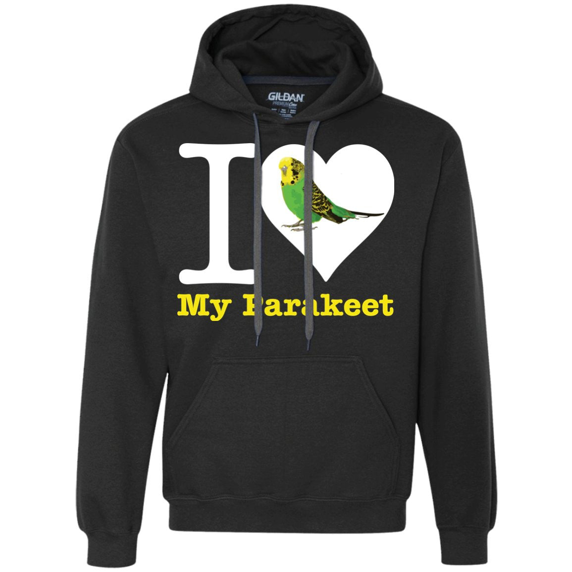 I Love My Parakeet  Heavyweight Pullover Fleece Sweatshirt