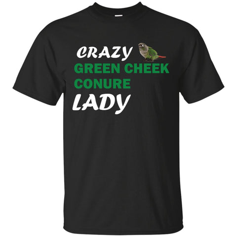 Crazy Green Cheek Conure Lady Custom Ultra Cotton T-Shirt