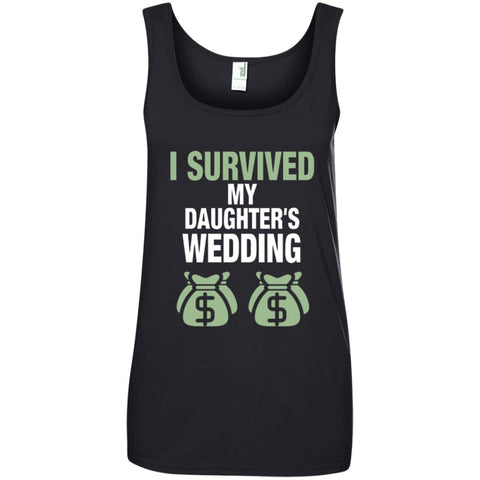Father Of The Bride Shirt I Survived My Daughters Wedding Ladies Tank Top