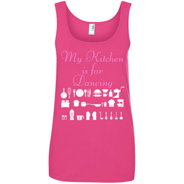 Funny Baking Gift - My Kitchen Is For Dancing - Baker Ladies Tank Top