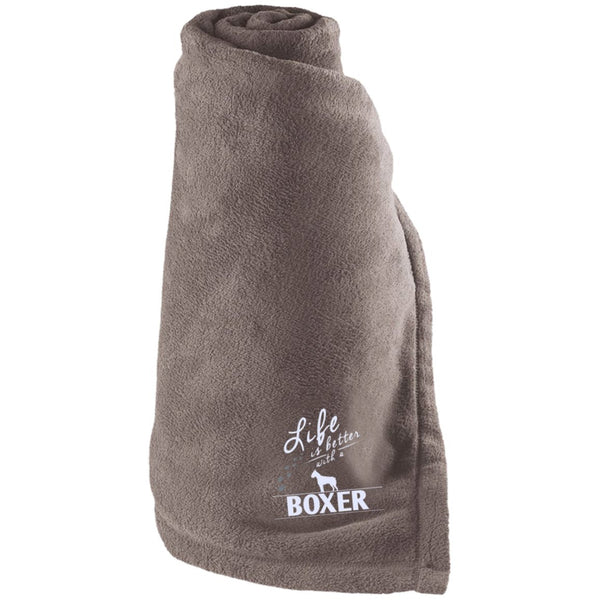 Boxer - Life Is Better With A Boxer Paws - Large Fleece Blanket