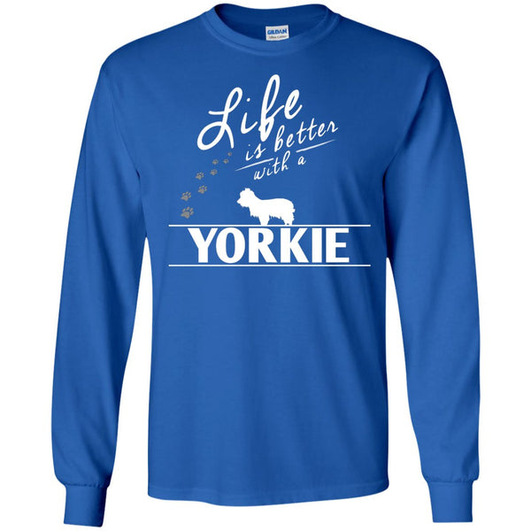 Yorkshire - Life Is Better With A Yorkshire - LS Ultra Cotton Tshirt