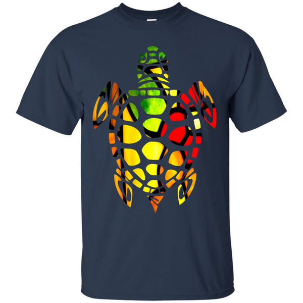 Beautiful Stained Glass Turtle Gift T-Shirt