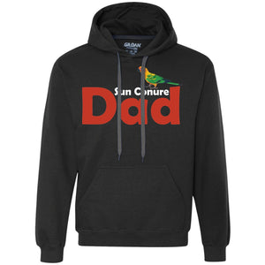Sun Conure Dad - Awesome Sun Conure Lover Shirt  Heavyweight Pullover Fleece Sweatshirt