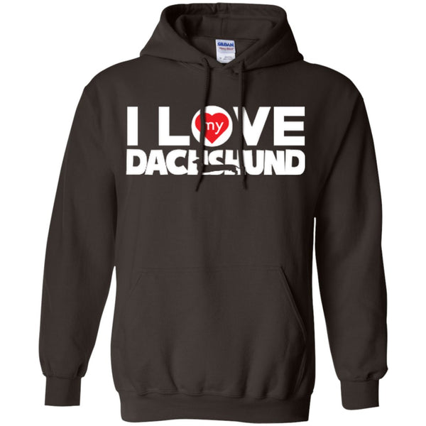I Love My Dachshund - Pullover Hoodie 8 oz