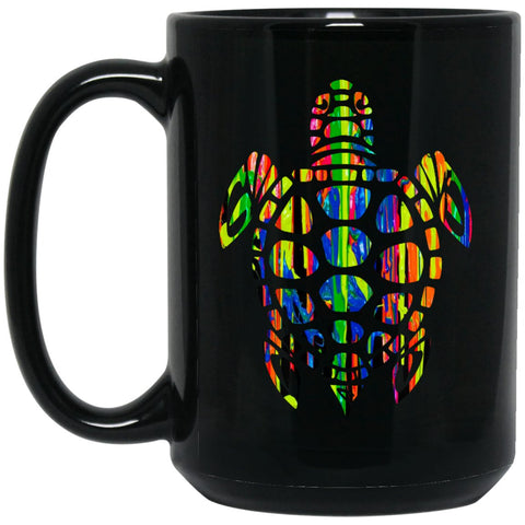 Cool Sea Turtle Gift Large Black Mug
